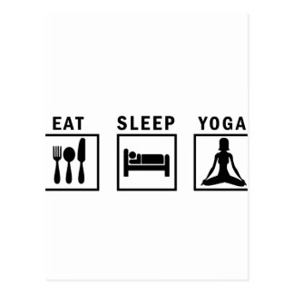 Cartão Postal coma a ioga do sono