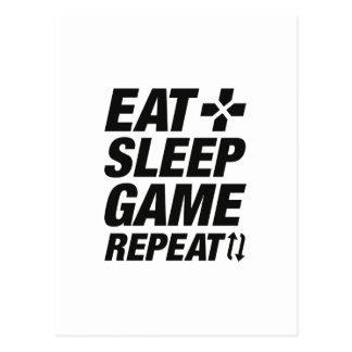 Cartão Postal Coma a repetição do jogo do sono