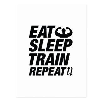 Cartão Postal Coma a repetição do trem do sono