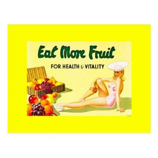 Cartão Postal Coma mais fruta - os anos 40 da propaganda Ca do