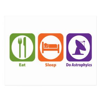 Cartão Postal Coma o sono fazem Astrophyics