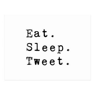 Cartão Postal Coma o Tweet do sono