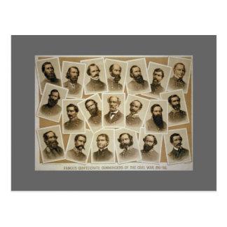 Cartão Postal Comandantes confederados 1861-1865