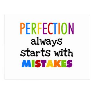 Cartão Postal Começos da perfeição com erros