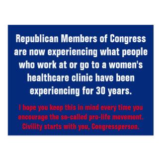 Cartão Postal Começos do civismo com o GOP