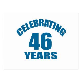 Cartão Postal Comemorando 46 anos de design do aniversário