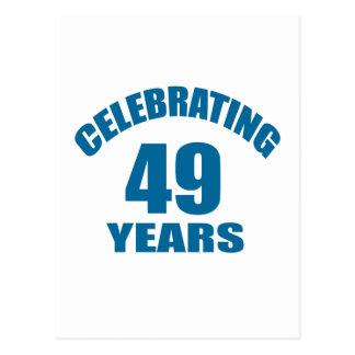 Cartão Postal Comemorando 49 anos de design do aniversário