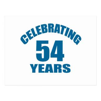 Cartão Postal Comemorando 54 anos de design do aniversário