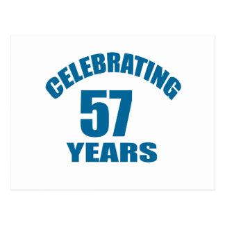 Cartão Postal Comemorando 57 anos de design do aniversário
