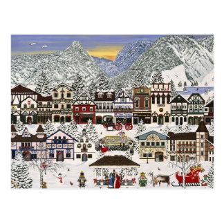 Cartão Postal Comemorando os feriados em Leavenworth
