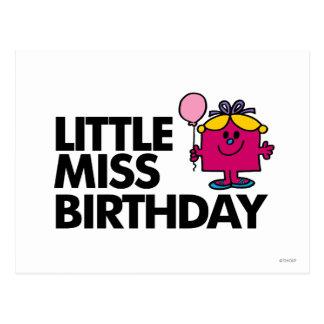 Cartão Postal Comemore a senhorita pequena Aniversário