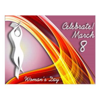 Cartão Postal Comemore - o dia da mulher internacional