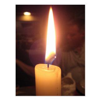 Cartão Postal Comensal da luz de vela