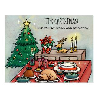Cartão Postal Comensal de Natal