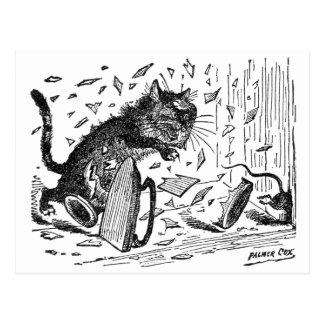 Cartão Postal Comensal dos perderes do gato quando o rato