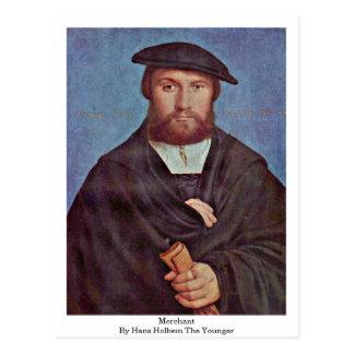 Cartão Postal Comerciante por Hans Holbein o mais novo