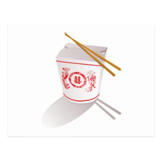 Cartão Postal Comida chinesa