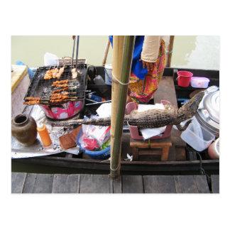 Cartão Postal Comida da rua de Tailândia do CHURRASCO da carne
