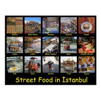 Cartão Postal Comida da rua em Istambul