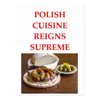 Cartão Postal comida polonesa
