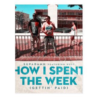 Cartão Postal Como eu gastei o cobrir da semana (Getting pago)