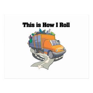 Cartão Postal Como eu rolo (o caminhão de lixo)