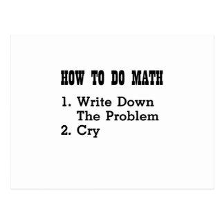 Cartão Postal Como fazer camisetas engraçadas da matemática