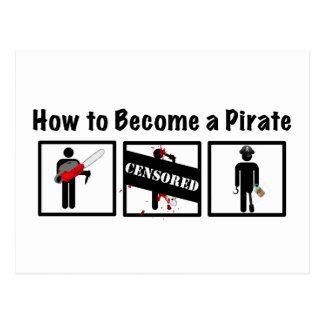 Cartão Postal Como se transformar um pirata