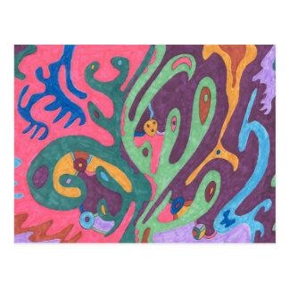 """Cartão Postal """"Como uma"""" arte abstracta"""