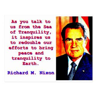 Cartão Postal Como você nos fala - Richard Nixon