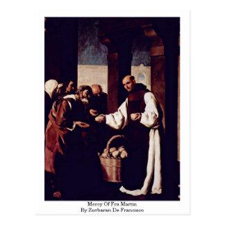 Cartão Postal Compaixão de Fra Martin por Zurbaran De Francisco
