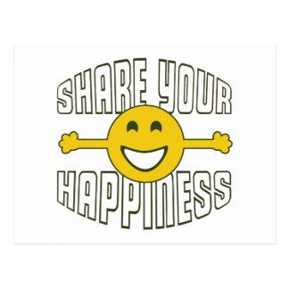 Cartão Postal Compartilhe de sua felicidade