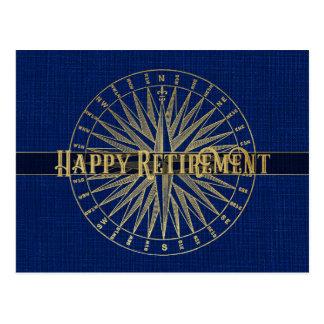 Cartão Postal Compasso feliz do ouro da aposentadoria