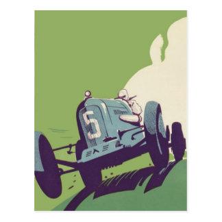 Cartão Postal Competência de carro vintage