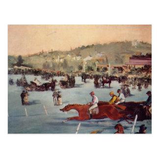 Cartão Postal Competência no Bois de Boulogne - Edouard Manet