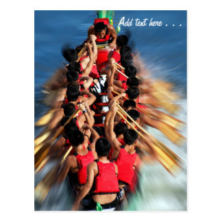 Cartão Postal Competição da raça de barco do dragão