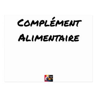 Cartão Postal COMPLEMENTO ALIMENTAR - Jogos de palavras