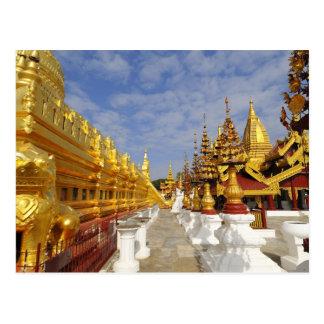 Cartão Postal Complexo do pagode de Shwezigon em Bagan (Pagan),