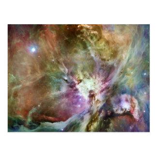 Cartão Postal Composição da nebulosa de Orion de Hubble e de