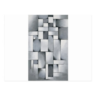 Cartão Postal Composição nas cinzas por Theo van Doesburg