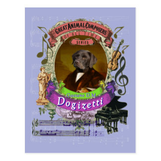 Cartão Postal Compositor animal Donizetti do cão de Gaetano