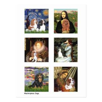 Cartão Postal Composto famoso da arte dos Cavalier (claro)