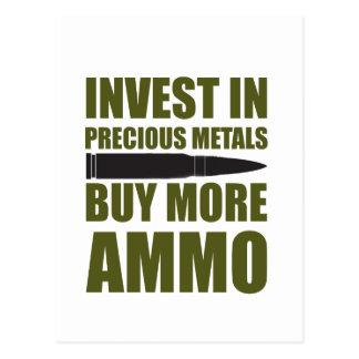 Cartão Postal Compre mais munição, invista-a no metal