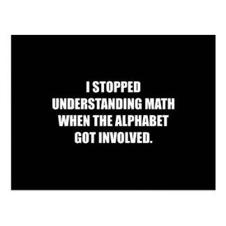 Cartão Postal Compreenda o alfabeto da matemática