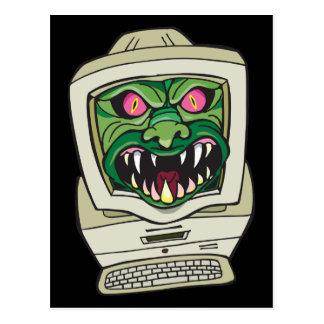 Cartão Postal Computador do monstro