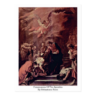 Cartão Postal Comunhão dos apóstolos por Sebastiano Ricci