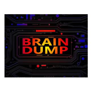 Cartão Postal Conceito da descarga de cérebro