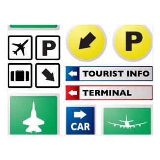 Cartão Postal Conceito do aeroporto