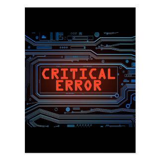 Cartão Postal Conceito do erro crítico