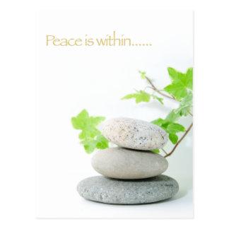 Cartão Postal conceito para a paz